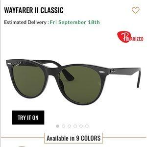 New RayBan Wayfarer II Classic Polarized Black